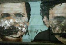 Raid nelle stazioni, sfregio sui murales di Noschese, Troisi e Totò