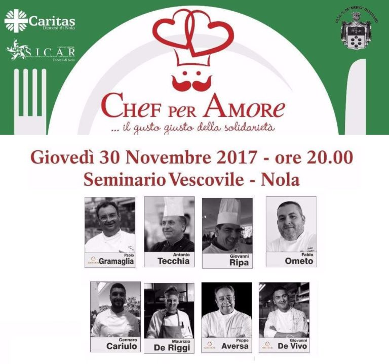 Chef per amore: a Nola serata di gala tra arte culinaria e solidarietà
