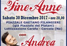 Concerto di Fine Anno questa sera a Cercola con Andrea Sannino