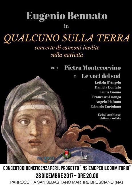 Canzoni inedite sulla natività, Eugenio Bennato in concerto per la solidarietà