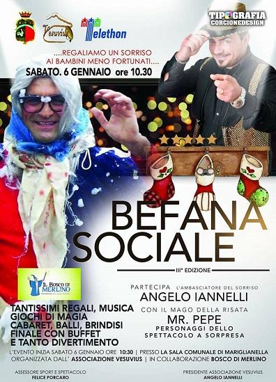 La Befana porta calze e giocattoli ai bambini di Mariglianella
