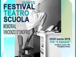 """Dal 25 marzo al via il V Festival teatro scuola """"Memorial Vincenzo D'Onofrio"""""""