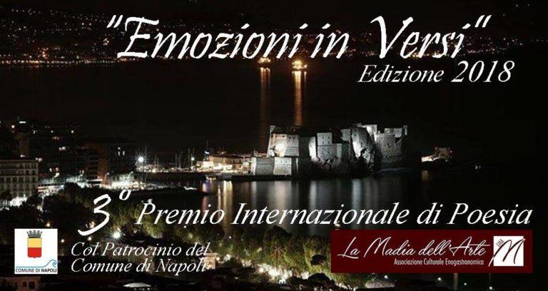 """Premio internazionale di Poesia """"Emozioni in Versi"""" – edizione 2018"""
