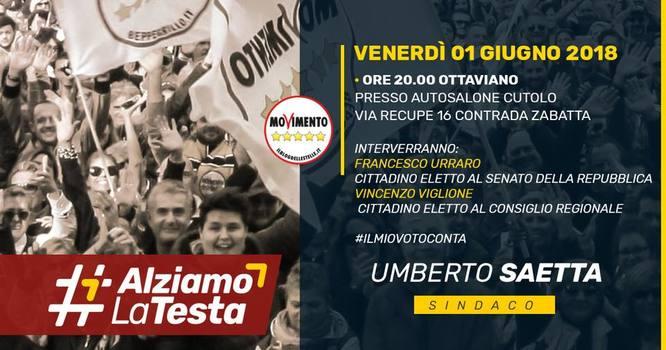 Ottaviano. Il candidato sindaco Umberto Saetta incontra i cittadini