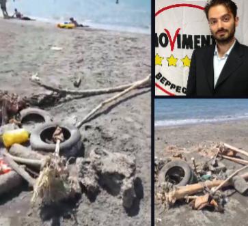 """Il consigliere regionale Luigi Cirillo: """"Problema ambientale lungo l'arenile stabiese"""""""