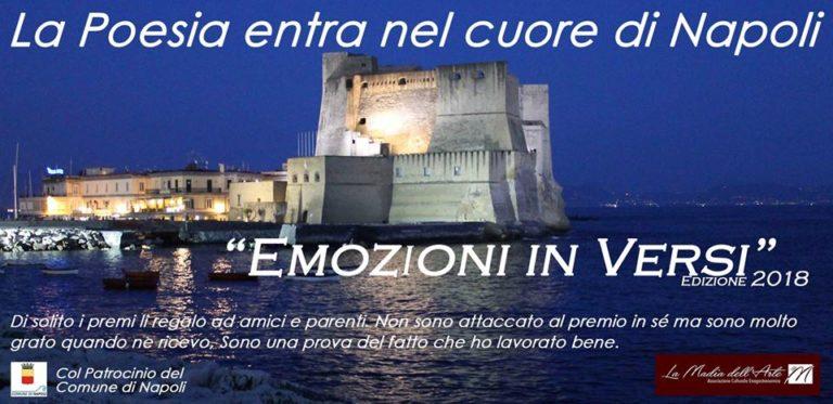 """""""La Madia dell'Arte"""". Premiazione di """"Emozioni in Versi"""" al Castel dell'Ovo di Napoli"""