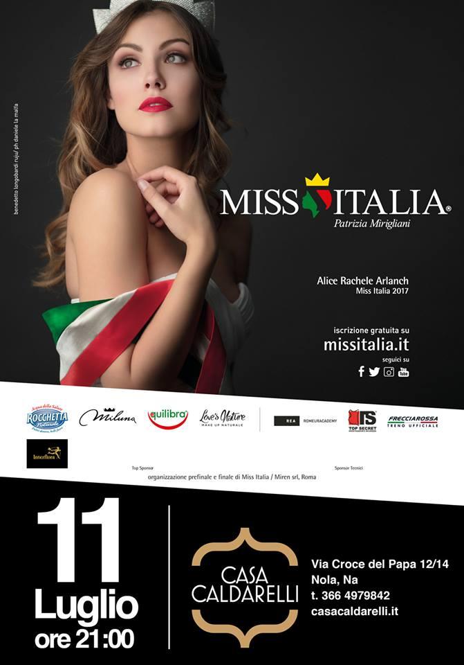 Nola, Casa Caldarelli: questa sera la prima finale regionale di Miss Italia 2018