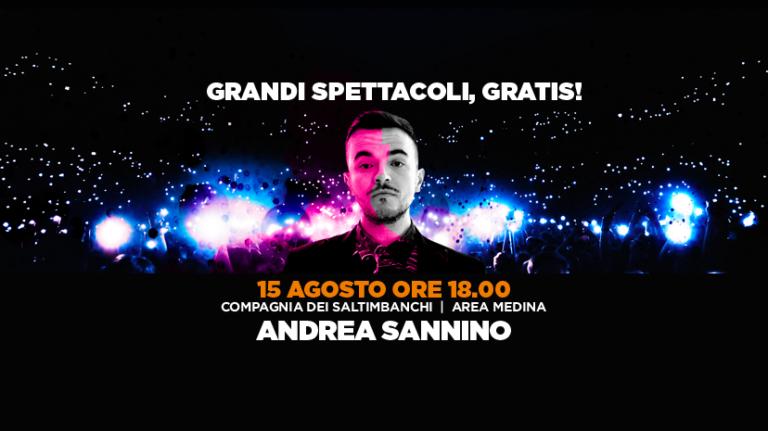 """Ferragosto al """"Vulcano Summer Festival"""" con Andrea Sannino"""