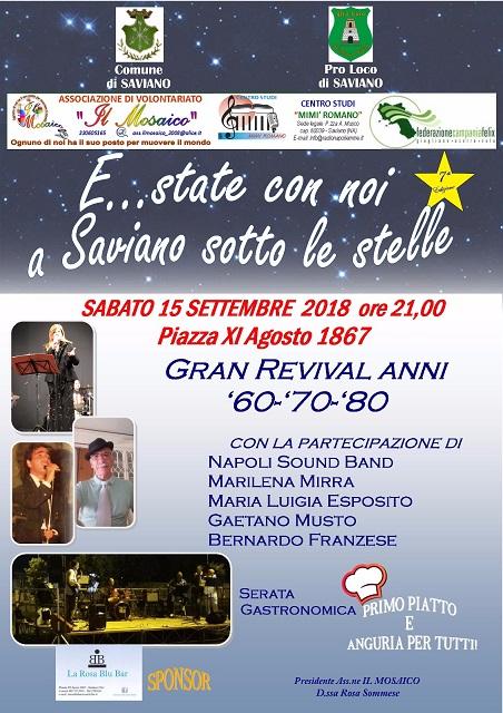 """""""E…state a Saviano sotto le stelle"""""""