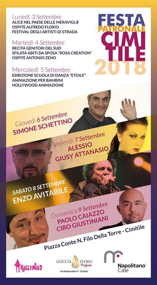 Cimitile, festa patronale: tra gli ospiti Simone Schettino ed Enzo Avitabile