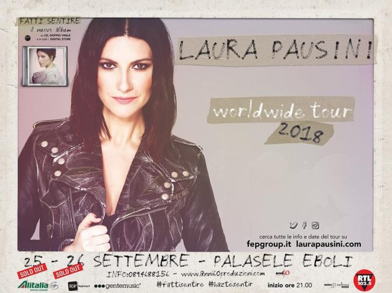 Laura Pausini ad Eboli, doppio sold out per l'unica tappa in Campania