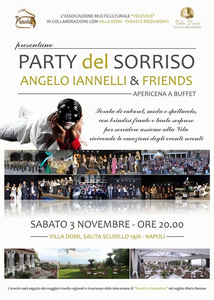 Party del Sorriso, a Villa Domi la festa di Angelo Iannelli con una parata di star