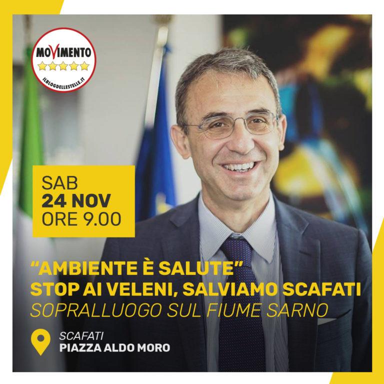 """Fiume Sarno, ministro Costa a Scafati. Villani: """"Impegno massimo"""""""
