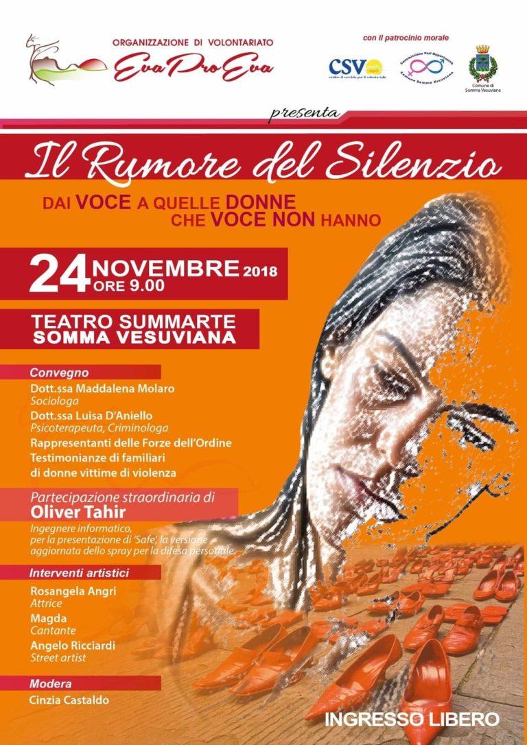 """Al Summarte """"Il Rumore del Silenzio"""" contro la violenza sulle donne"""