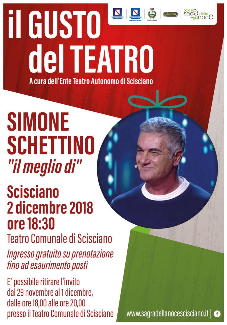 La rassegna teatrale di Scisciano si apre con Simone Schettino