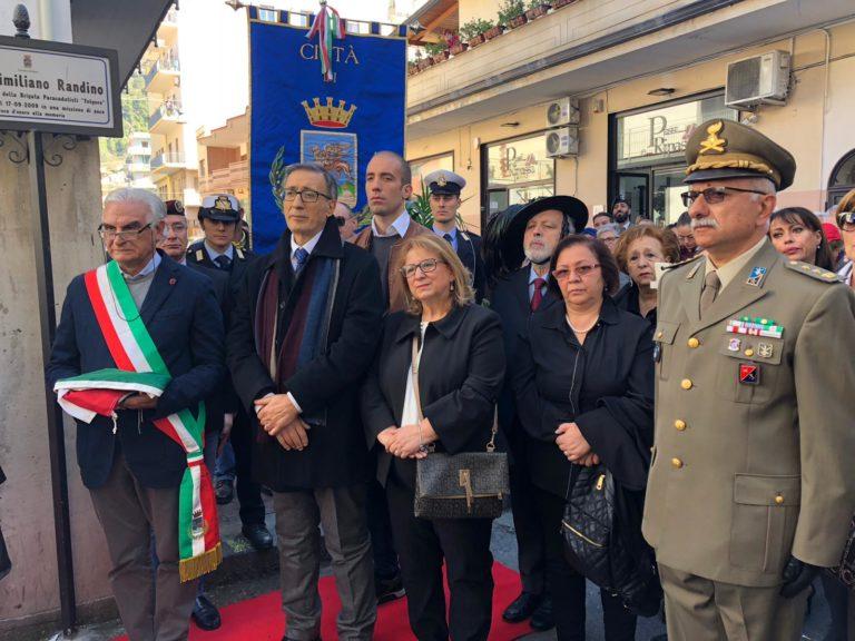 Villani presente alla manifestazione in onore del caporal maggior Randino