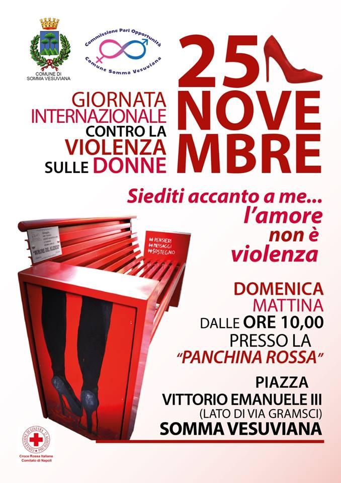 """Violenza sulle donne, domani in piazza a Somma """"Siediti accanto a me"""""""