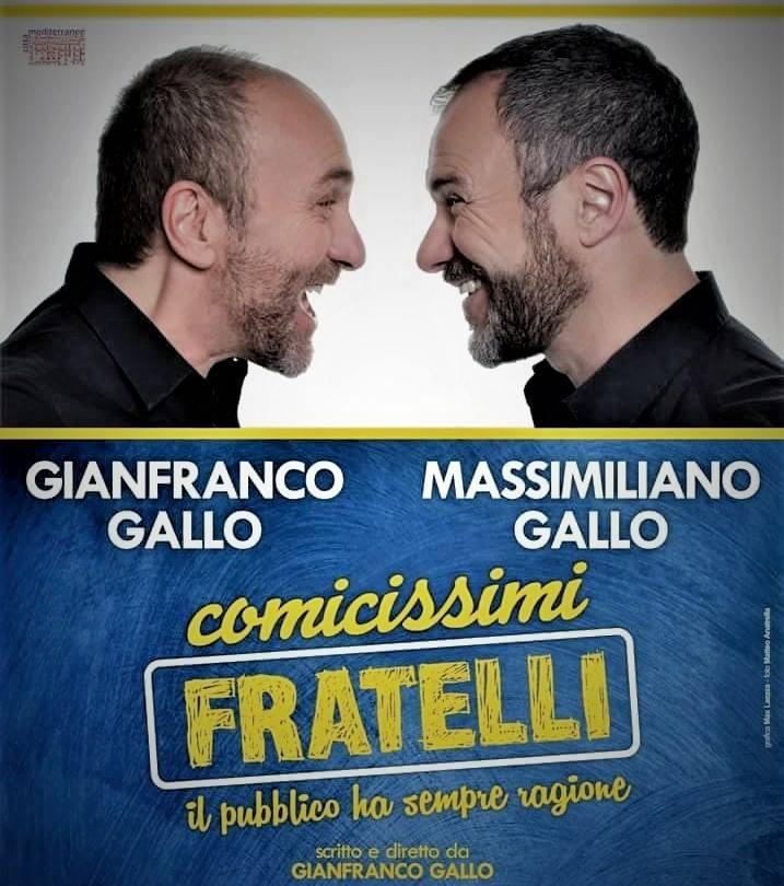 """Nola, Teatro Umberto: in scena lo spettacolo """"Comicissimi Fratelli"""""""