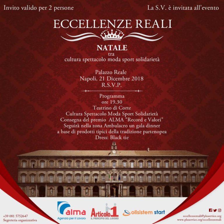 Eccellenze Reali: serata di gala tra cultura, sport, moda e solidarietà