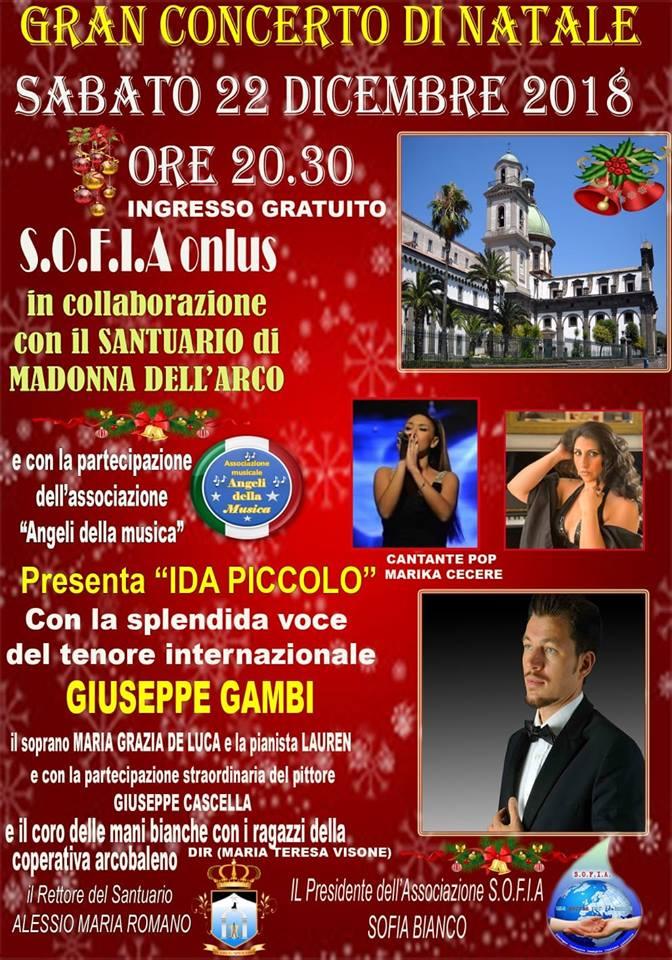 Sant'Anastasia. Gran concerto di Natale con il tenore internazionale Gambi