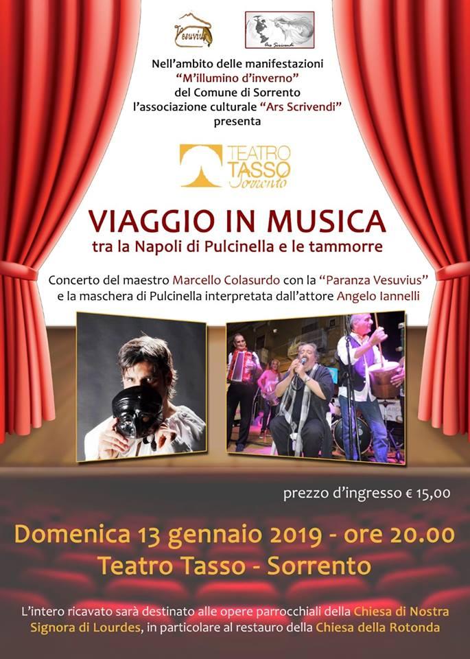 Solidarietà al teatro Tasso di Sorrento con Colasurdo e Iannelli