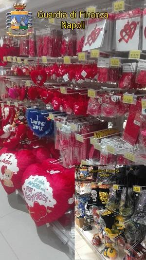 San Valentino e Carnevale, sequestrati 2milioni di articoli non sicuri
