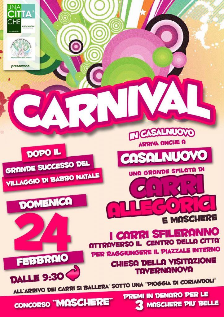 Carnevale, a Casalnuovo la prima sfilata dei carri allegorici
