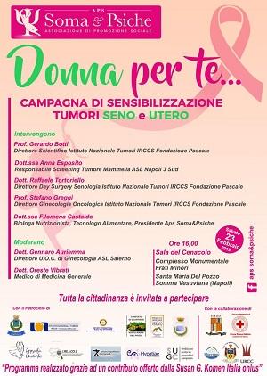Somma. Sabato la Campagna di prevenzione tumori al seno ed utero