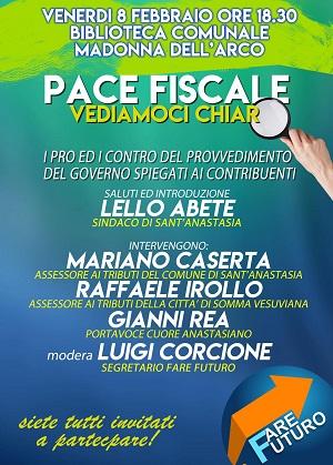 Pace fiscale, dibattito con il sindaco Abete e l'assessore Caserta