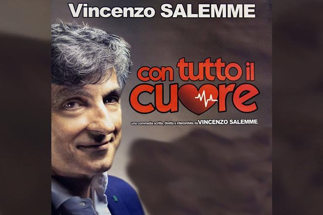 """Pompei, Vincenzo Salemme a teatro """"Con tutto il cuore"""""""