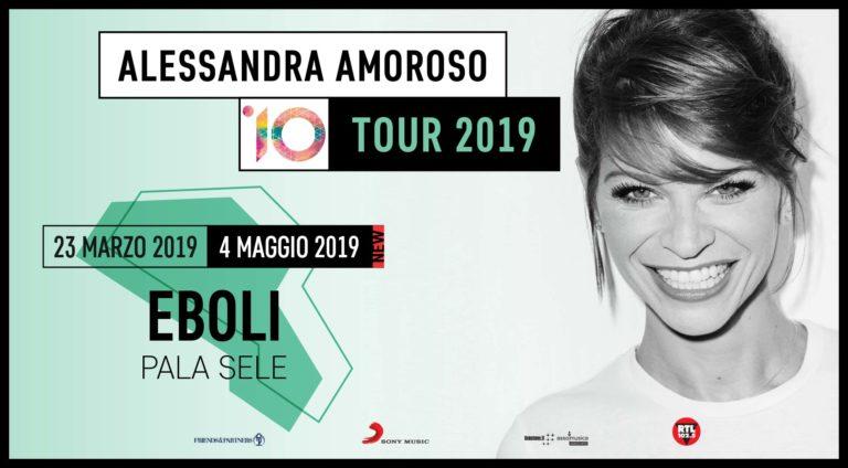 """Alessandra Amoroso al Palasele per la 1° tappa in Campania del """"10 Tour"""""""