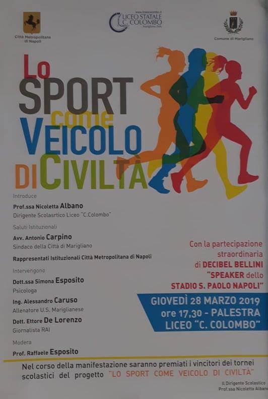 Manifestazione sportiva al Colombo di Marigliano, ospite: Decibel Bellini