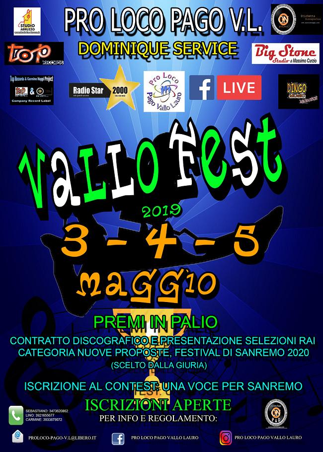 Pago del Vallo Lauro. Conferenza stampa di presentazione del Vallo Fest Contest 2019