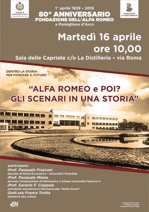 Per l'80esimo anniversario dell'Alfa Romeo un convegno sulla sua storia