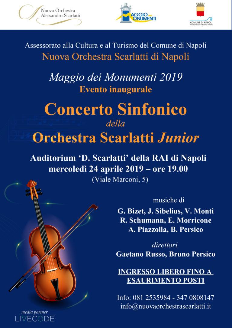 L'Orchestra Scarlatti Junior apre il Maggio dei Monumenti