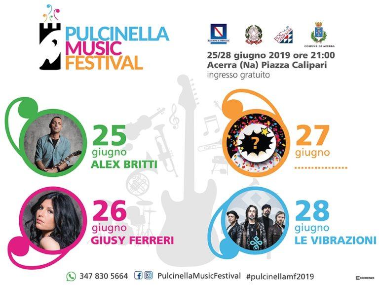 Acerra, Pulcinella Music Festival 2019: in piazza 4 grandi concerti gratuiti