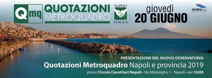 Quotazioni Metroquadro Napoli e Provincia, presentazione alla Canottieri