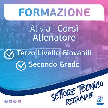 """Al via i Corsi Allenatore 2019/2020  """"Terzo Livello Giovanile"""" e """"Secondo grado"""""""