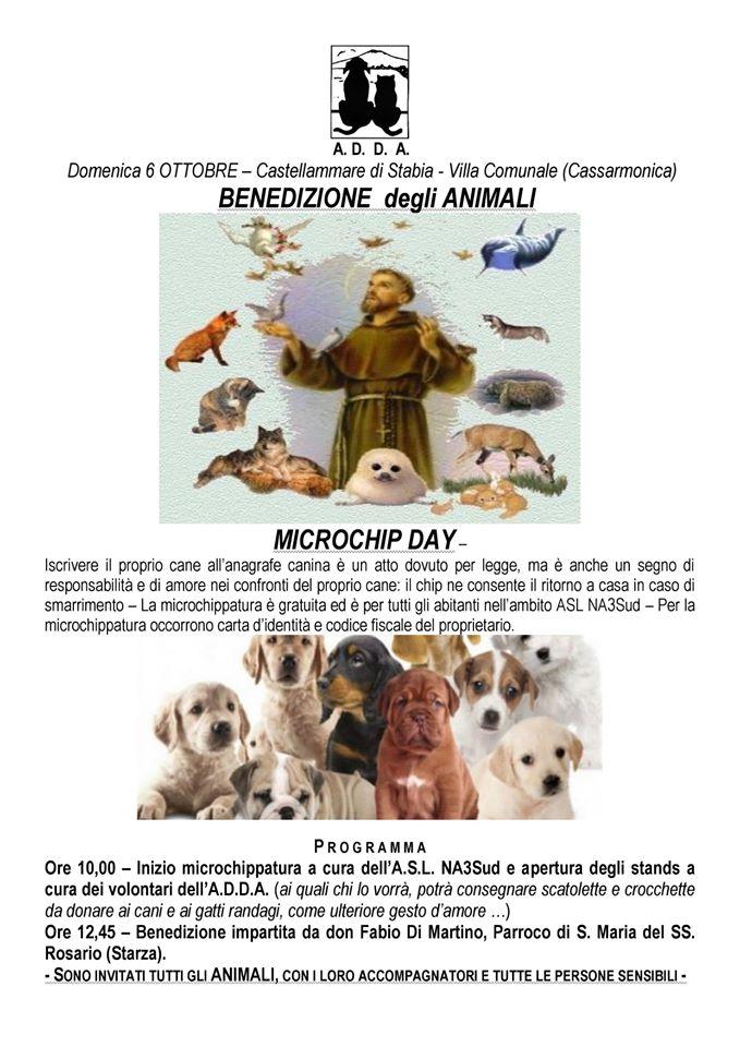 Castellammare di Stabia: Benedizione degli Animali & Microchip Day
