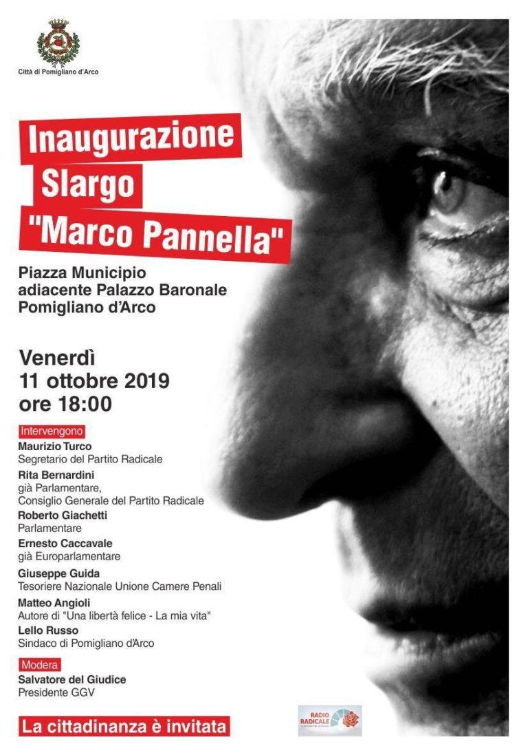 """A Pomigliano d'Arco inaugurazione slargo dedicato a """"Marco Pannella"""""""