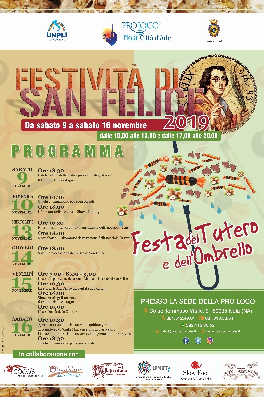 Il Tutero e l'Ombrello, riparte in Pro Loco la Festa di San Felice