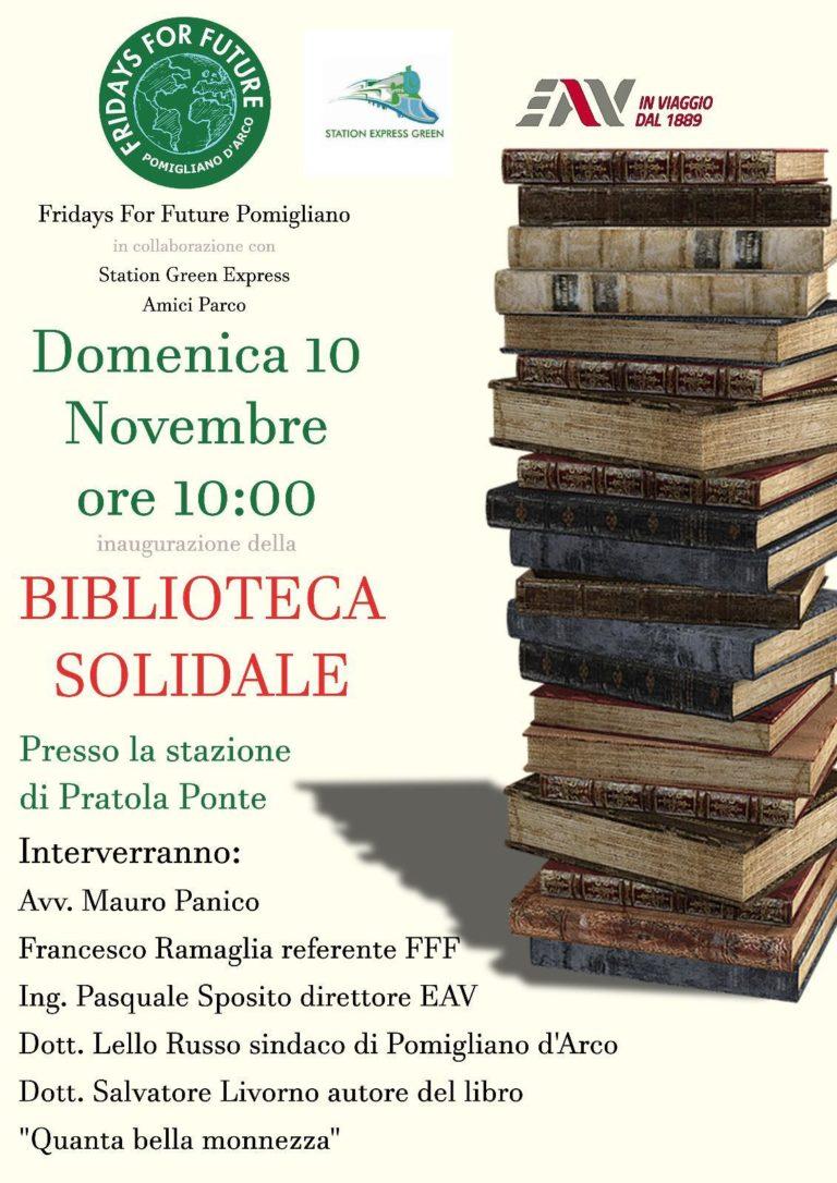 """Pomigliano. La stazione di Pratola Ponte presenta la """"Biblioteca Solidale"""""""