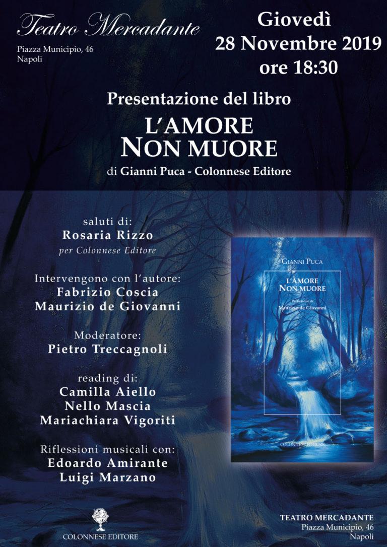 """Al teatro Mercadante la presentazione del libro: """"L'amore non muore"""""""