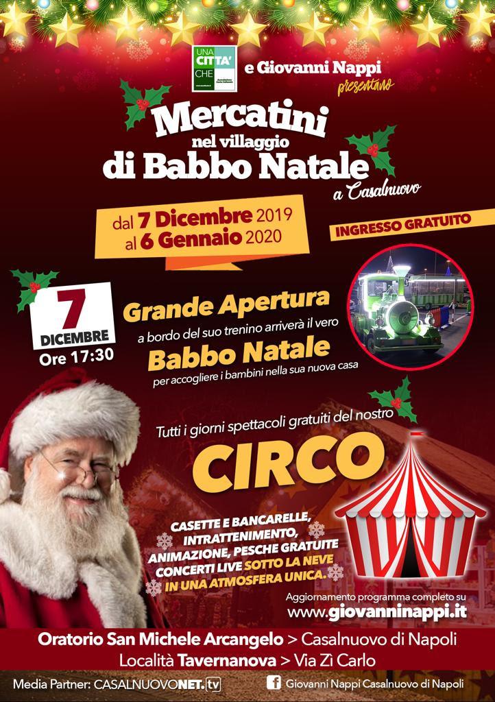 A Casalnuovo ritornano i mercatini del Villaggio di Babbo Natale