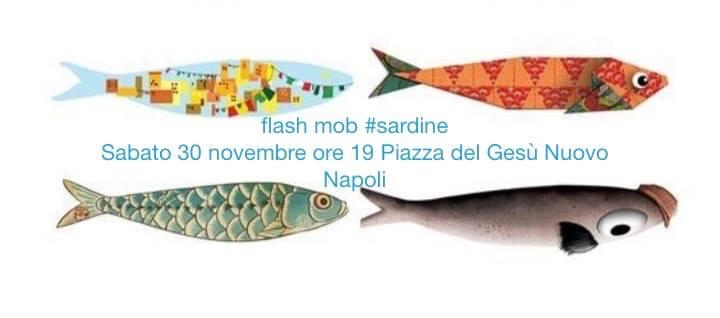 """Flash mob #sardine, anche """"Napoli non si Lega"""""""