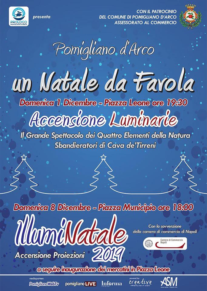 """Un """"Natale da Favola"""" a Pomigliano, domenica l'accensione delle luminarie"""