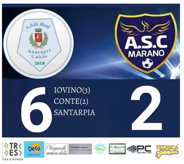 Calcio, Prima Categoria: Real Anacapri rullo compressore: 6 gol al Marano