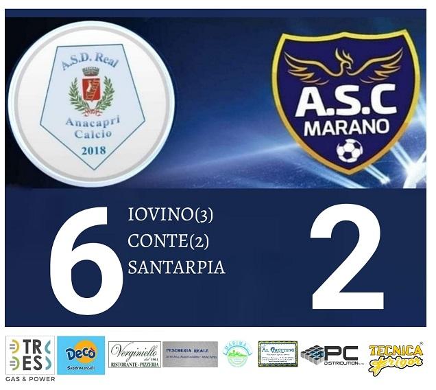 Calcio, Prima Categoria: Real Anacapri rullo compressore: 6 gol al Marano