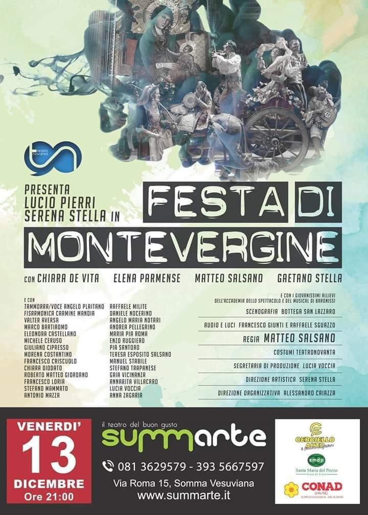 """Al Summarte la """"Festa di Montevergine"""" di Viviani con Lucio Pierri"""