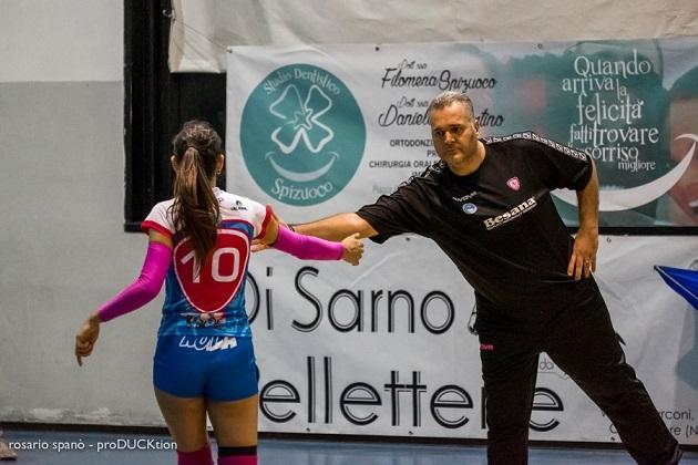Pallavolo B2 F. Besana Nola, separazione consensuale con coach Alessandro Quinto